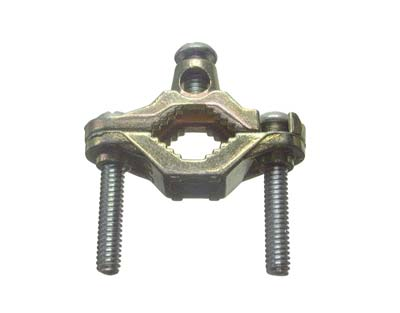 BRONZE GROUND CLAMP FOR ARMORED CABLE