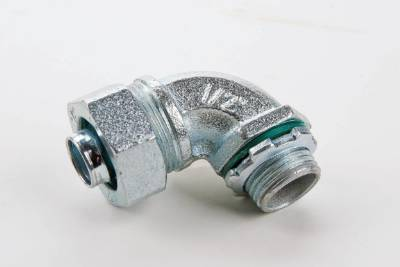 90° Liquid-Tight Connector w/Insulated Throat