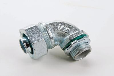 LIQUID TIGHT MALLEABLE IRON 45DEG CONNECTOR W/INSULATED THROAT