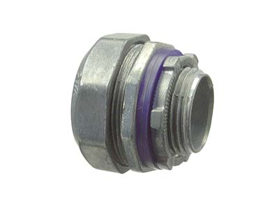 LIQUID TIGHT ZINC MULTIPIECE CONNECTOR W/INSULATED THROAT